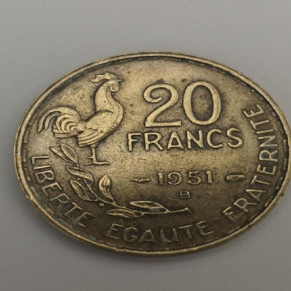 Francia 20 francos 1951b
