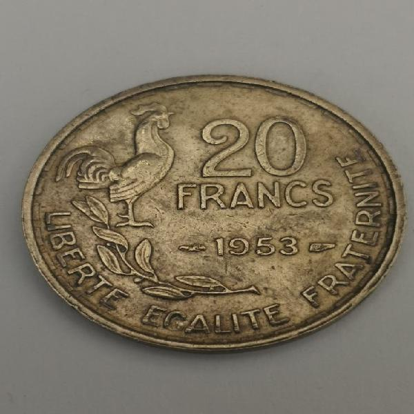 Francia 20 francos 1953