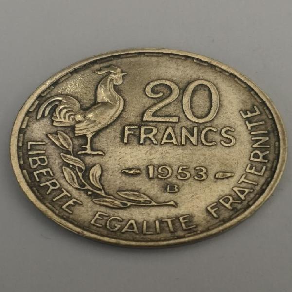 Francia 20 francos 1953b