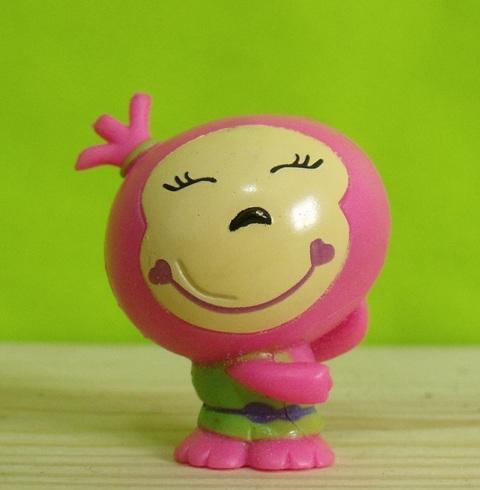 Figura goma pvc capuchón lápiz mona rosa - chuches y