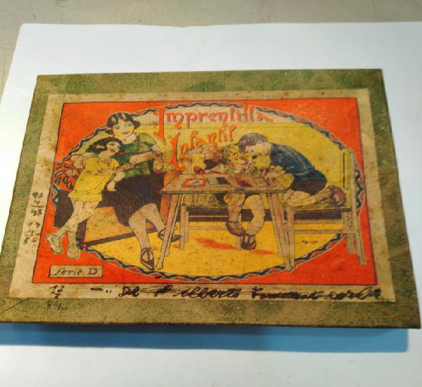 Imprenta infantil-años 30,serie d, a falta de alguna pieza