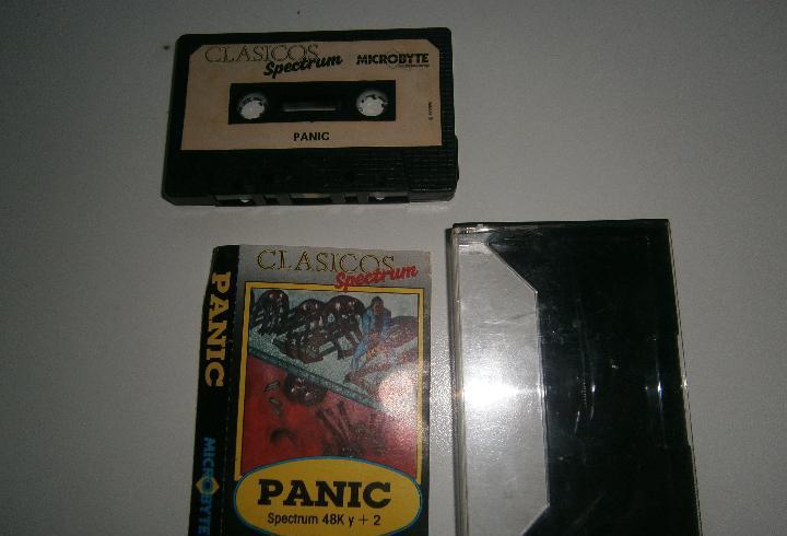 Juego de spectrum - panic - caja pequeña - microbyte