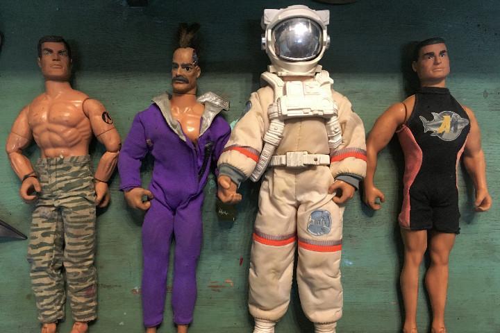 Lote 4 action man y complementos. ver fotos. astronauta.