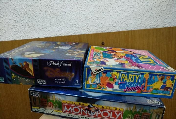 Lote juegos mesa monopoly, trivial,patty.