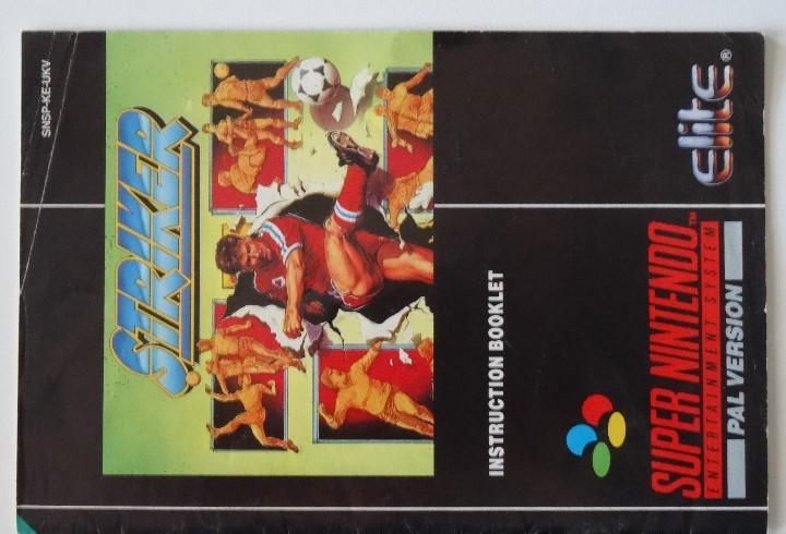Nintendo snes manual striker original super nintendo