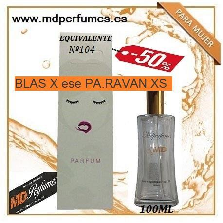 Oferta perfume equivalente mujer nº104 blas x ese pa.ravan