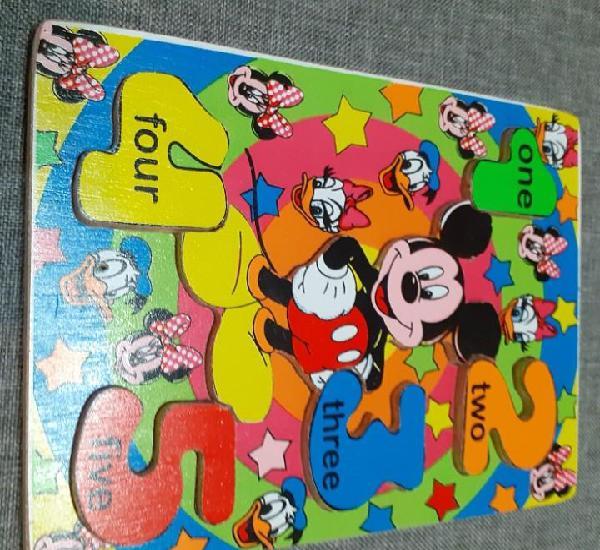 Puzzle - rompecabezas de madera números 1 - 5 en inglés