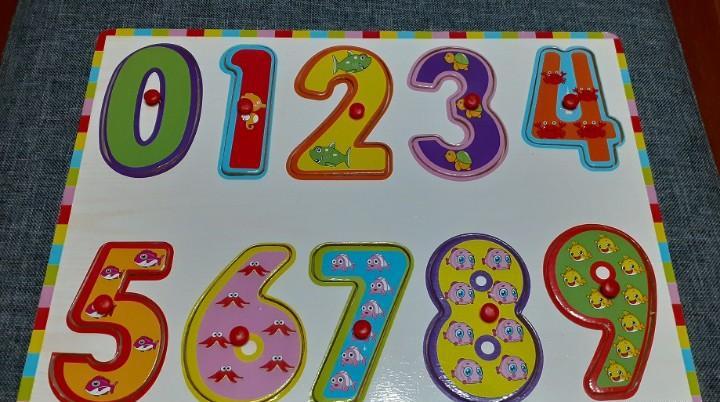 Puzzle - rompecabezas educativo infantil de madera números