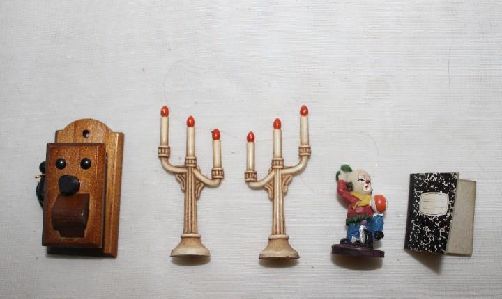 Várias piezas miniaturas casa de muñecas