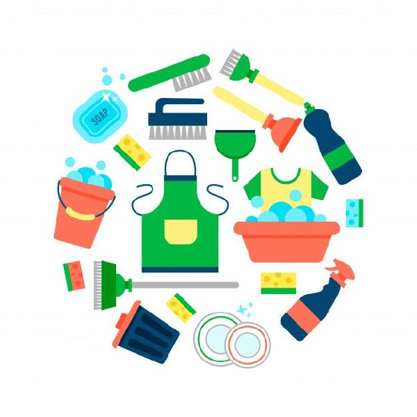 Chica responsable para limpieza del hogar