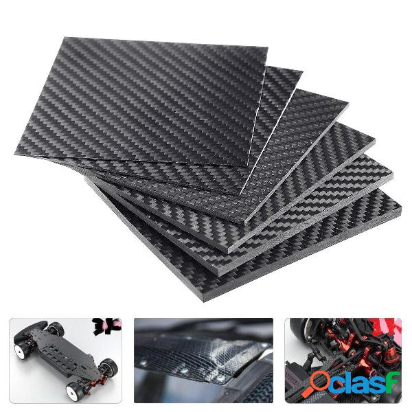 100x100x (0.5-5) mm fibra de carbono negra placa panel tablero tejido de sarga mate