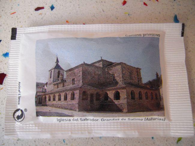 Sobre azúcar camino santiago iglesia salvador de grandas de