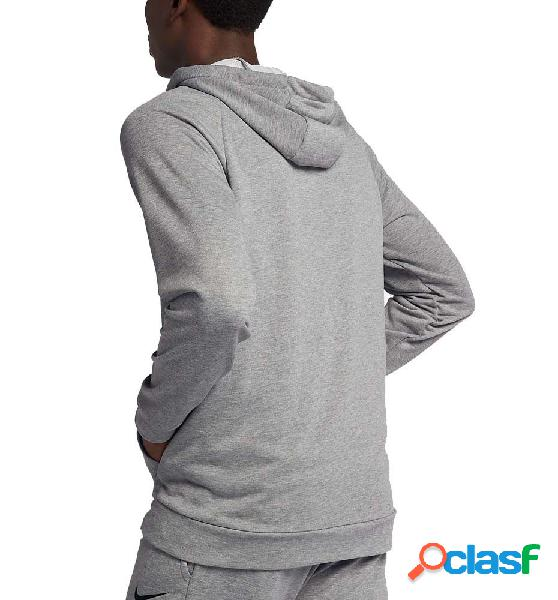 Sudadera con capucha fitness nike m´ nike dry hoodie gris xl