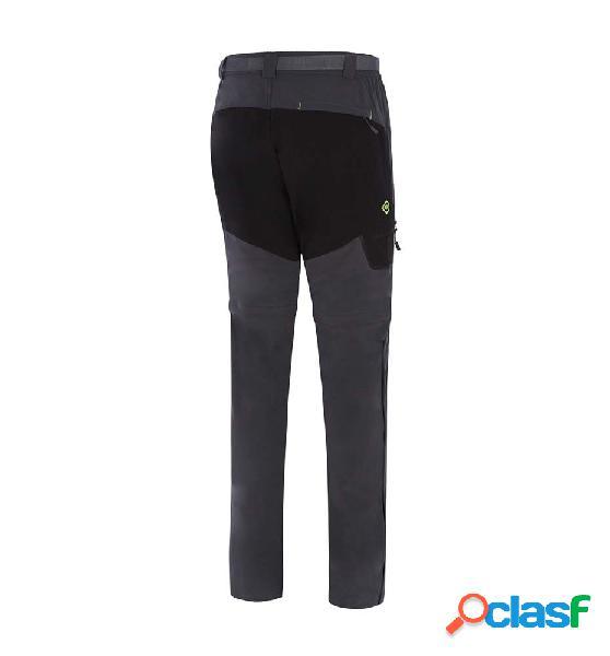 Pantalon outdoor izas datachable pant gris oscuro m