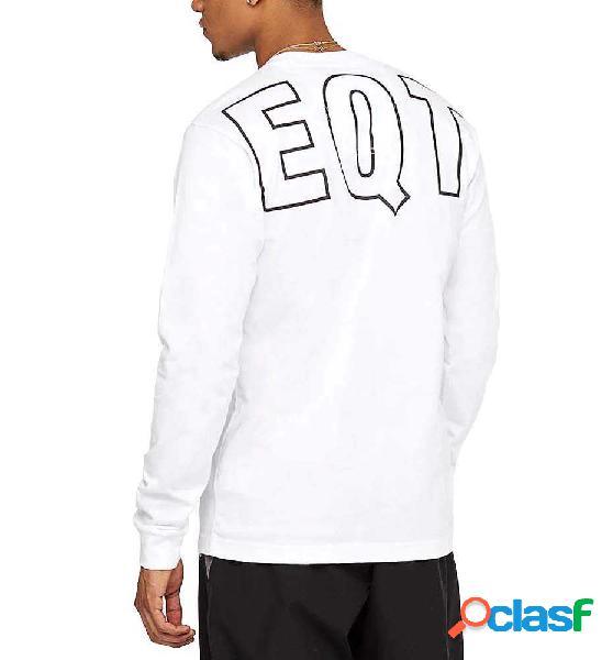Camiseta casual adidas eqt l/s gr tee blanco l