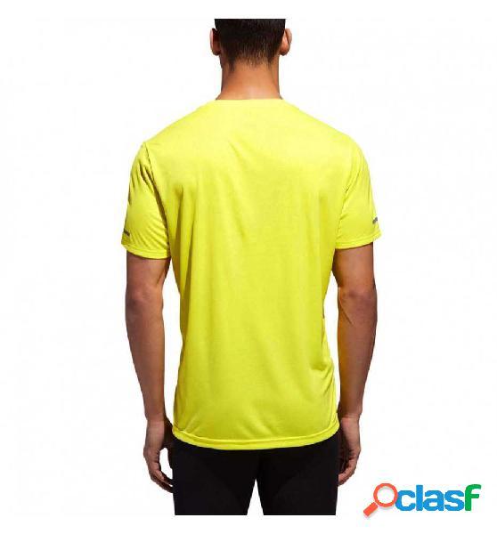 Camiseta m/c running adidas run tee m amarillo xl