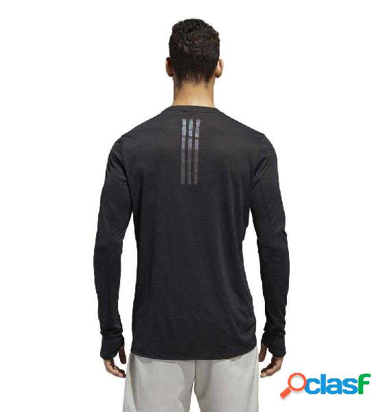 Camiseta m/l running adidas supernova tee negro xl