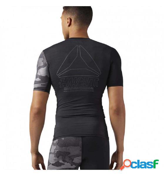 Camis. compress fitness reebok equipment compression tee l negro