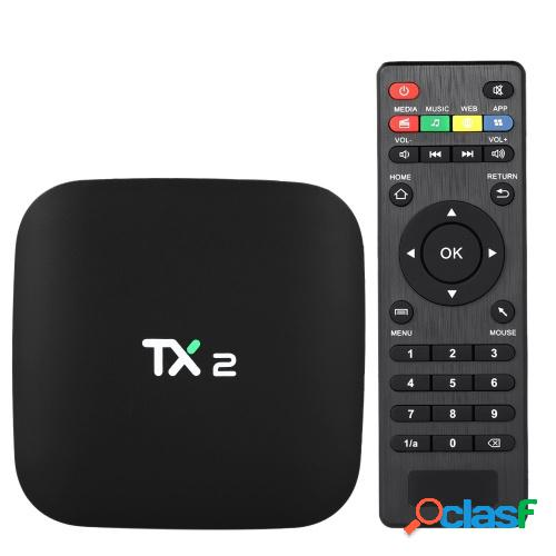 Tx2 smart android tv box android 6.0 rockchip rk3229 quad core uhd 4k vp9 h.265 mini pc 2gb / 16gb dlna wifi lan reproductor multimedia hd conector eu