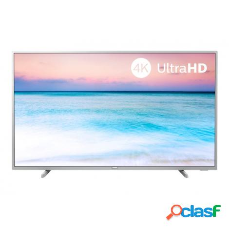 """Television philips 55"""" led 55pus6554 4k uhd smart tv silver"""