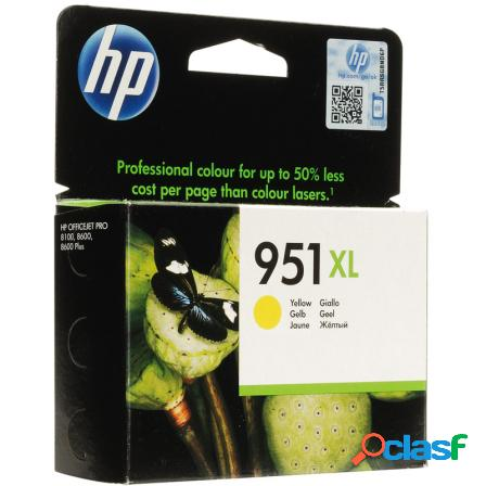 Cartucho amarillo hp n951xl para officejet pro 8600