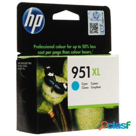 Cartucho cian hp n951xl para officejet pro 8600