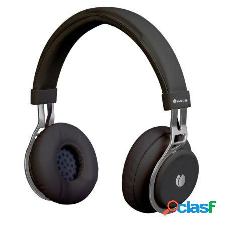 Auriculares bluetooth ngs artica lust black - alcance 10m - microfono
