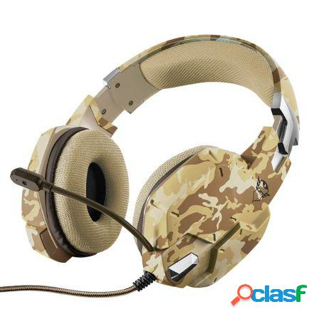 Auriculares con microfono trust gaming gxt 322d desierto camuflaje - m