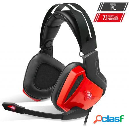 Auriculares con microfono spirit of gamer xpert-h100 red - drivers 50m