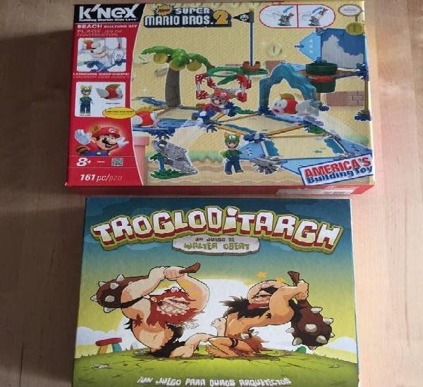 2 juegos mesa:supermariobros2 y trogloditargh