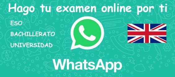 Ayuda con tu examen inglés bachillerato