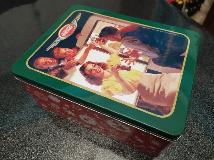 Caja lata coca cola vintage