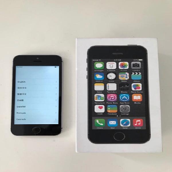 Iphone 5s, 16gb libre, gris espacial