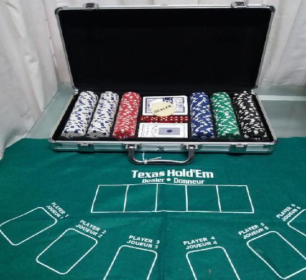 Maletin aluminio juego poker