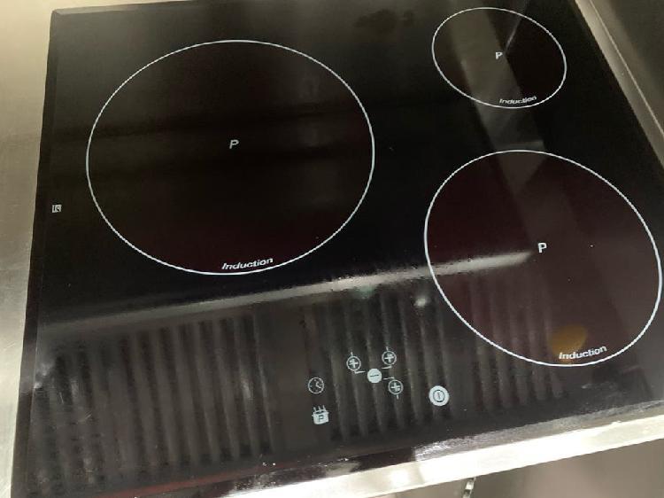 Mueble acero y placa inducción