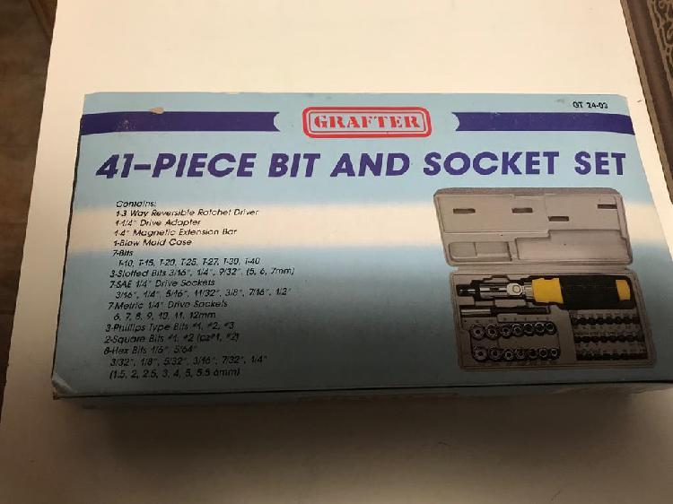 Set nuevo41 piezas atornilladores y llaves de vaso