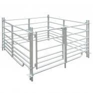 Vidaxl redil de 4 paneles acero galvanizado 137 x 92 cm