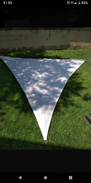 Toldos (2) tipo vela triangular 3x3x3m