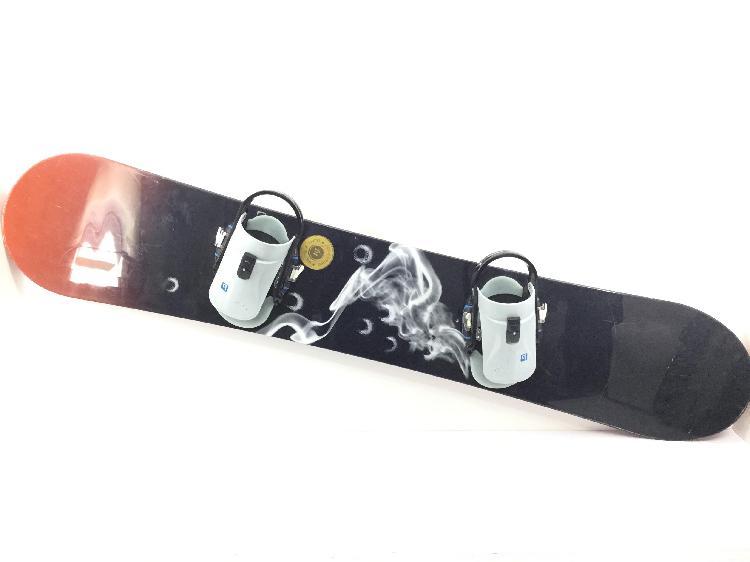 10 % snowboard burton bullet 64 con fijaciones custom