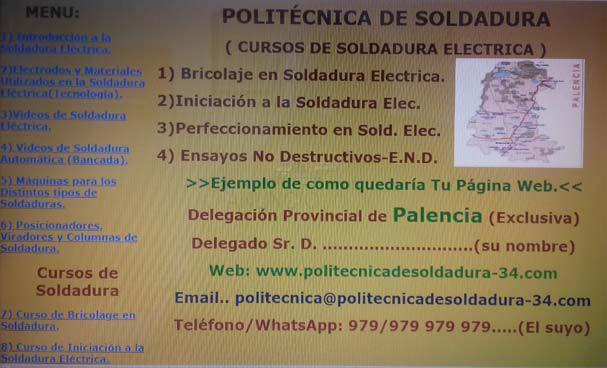 COMERCIALES CON FORMACIóN EN SOLDADURA PARA LA PROVINCIA DE