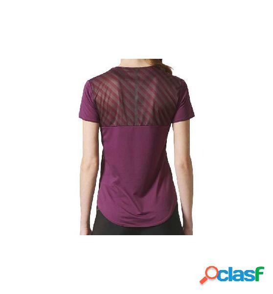 Camiseta running adidas az ss tee w lila m