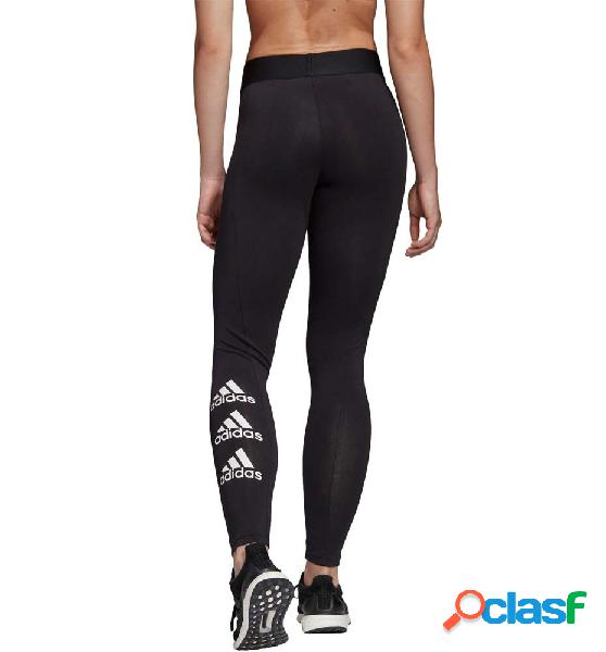 Mallas long fitness mujer adidas w stacked tight negro s