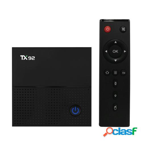 Tx92 smart android tv box android 7.1 amlogic s912 octa-core 64 bit 3gb / 32gb vp9 h.265 uhd 4k 2.4g y 5g wifi 1000m lan bluetooth 4.1 dlna hd media player enchufe de ee. uu.