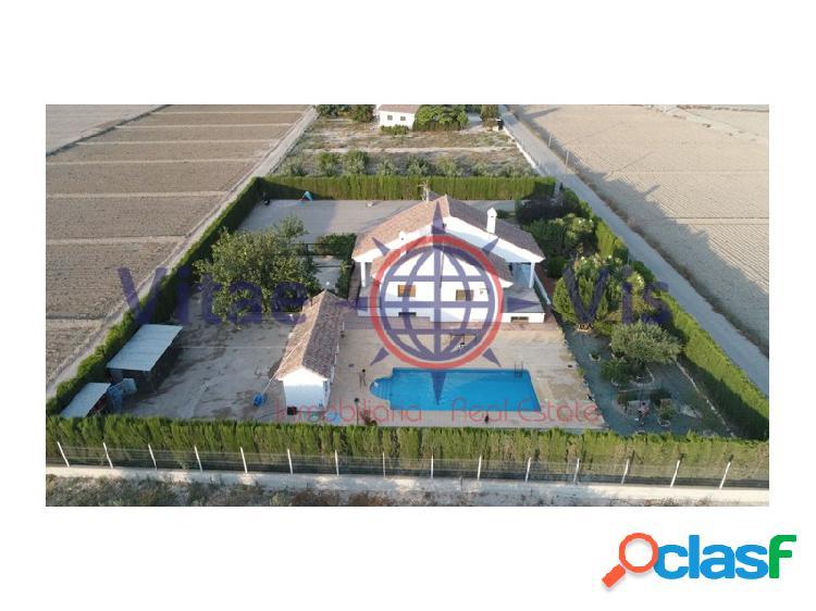 Chalet con piscina cazalla, vallado