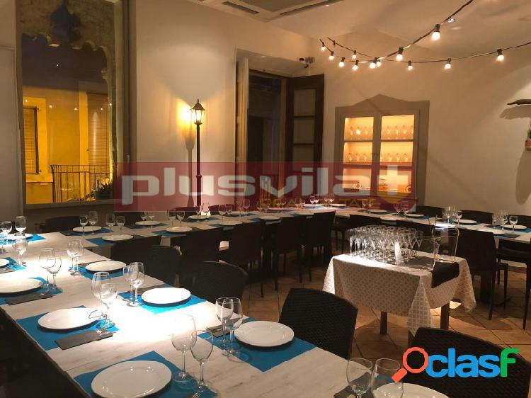 Restaurante en traspaso a pleno rendimiento, centre vila, vilafranca del penedes, barcelona.