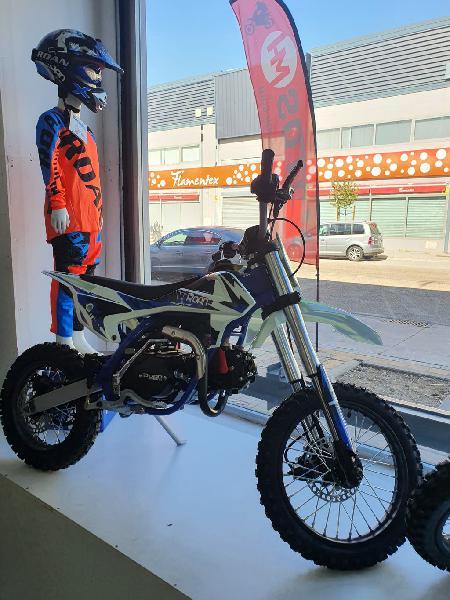 Pit bike rxt 125cc zs 14/12 azul y naranja 4 tiemp
