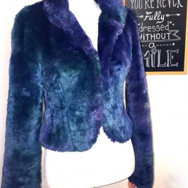 Abrigo peludo azul