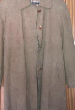 Abrigo largo de terciopelo marrón (t:m-42)