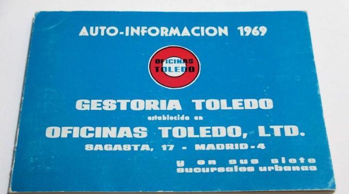 Auto-información 1969 (gestoría toledo de madrid) librito