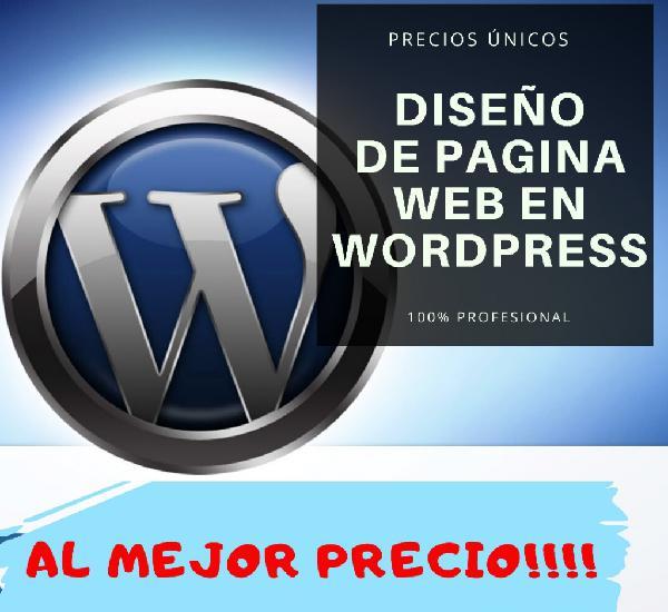 Diseño de páginas web en wordpress al mejor precio